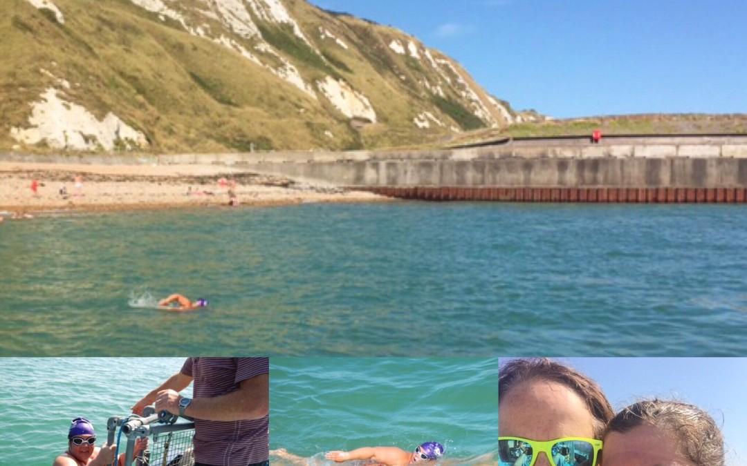 Surrey Fitness Centres Godaming member Lindsey completes her channel swim challenge!