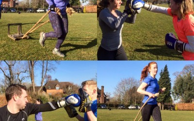 BOXING, SLEDS & THE STEPS – SATURDAY GODALMING BOOT CAMP!