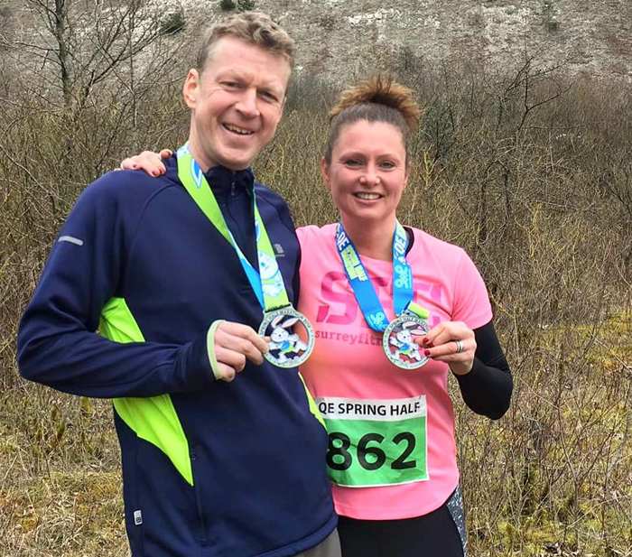 Haslemere fitness Boot Camp members complete QE Spring Half Marathon!