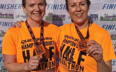 Haslemere members Hayley and Sam complete another half marathon!